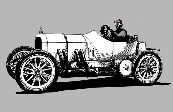 1908 Mercedes Illustration