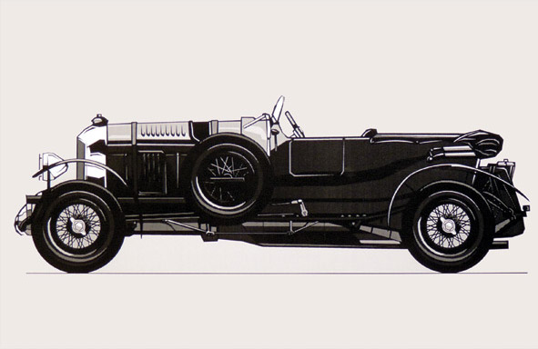 1930 Bentley Illustration