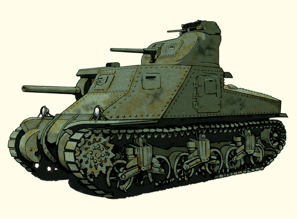 M3 Tank Illustration